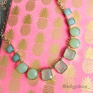 [loft] square stone necklace